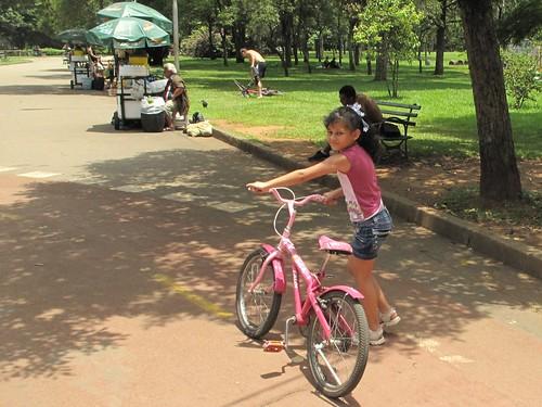 pink bike on bike lane SP