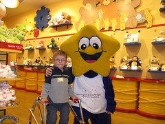 Starry at build-a-bear with little boy (StarlightCanada) Tags: starry