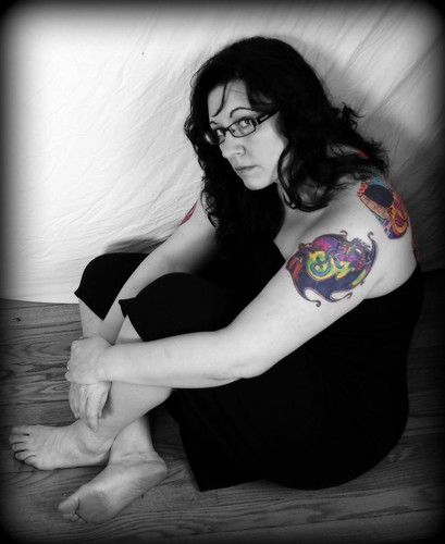 Day 38 . . . Strapless dress and tattoos.