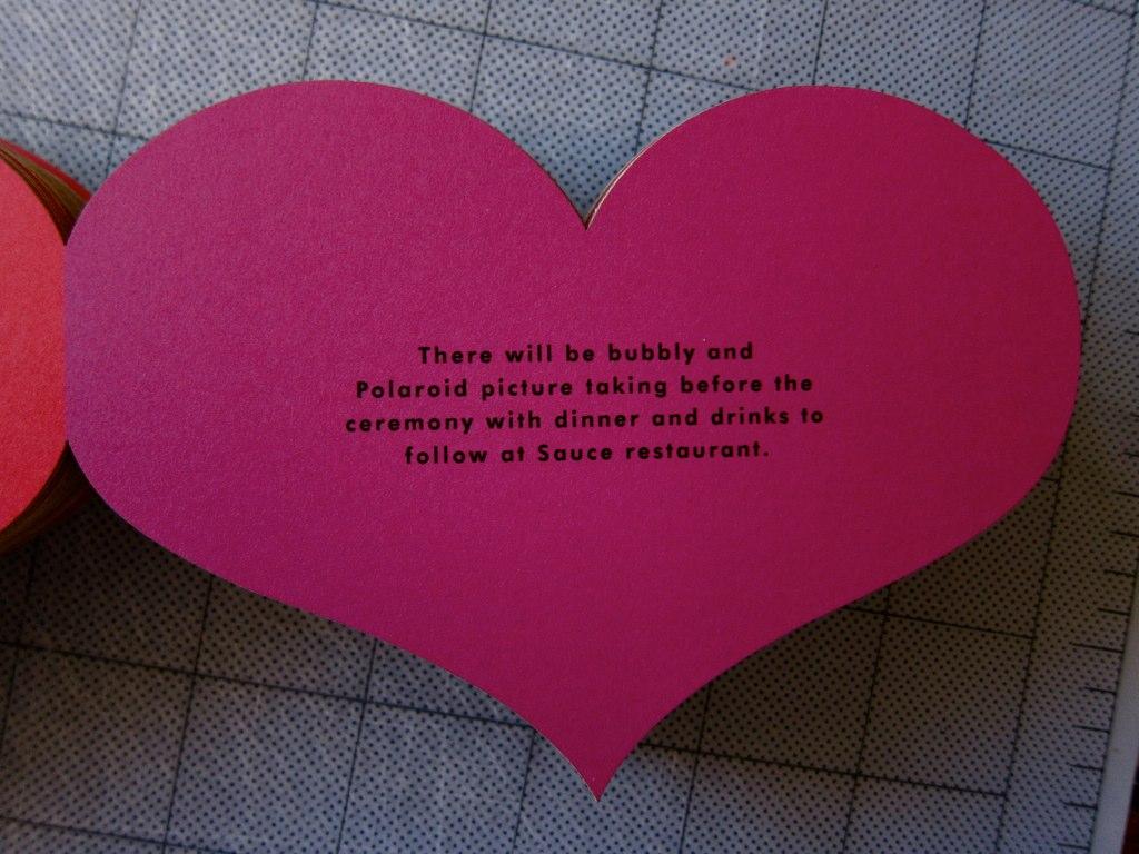the indigo bunting heart invitations