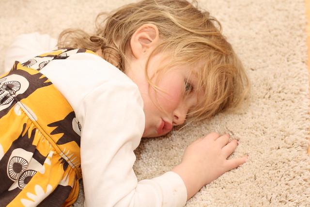 Kose med teppe