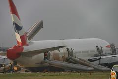 British Airways - G-YMMM crash - London Heathrow (EGLL/LHR) (Andrew_Simpson) Tags: china london airport crash accident heathrow beijing landing damage ba boeing britishairways 777 lhr heathrowairport planecrash aircrash oneworld crashlanding egll 777200 badlanding 777200er oneworldalliance gymmm heathrowcrash ba038 flightba038