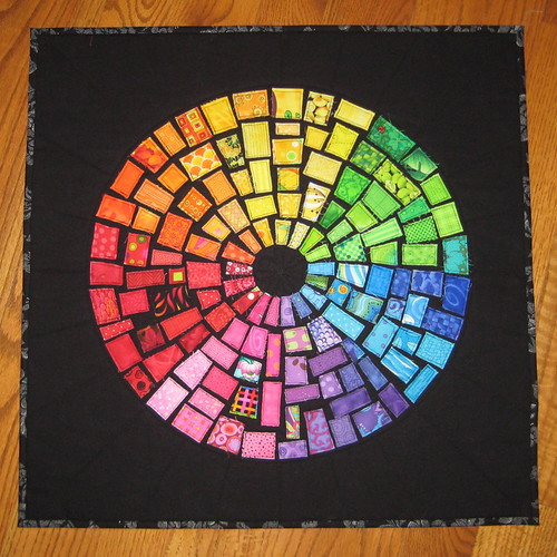 Finished ticker tape color wheel