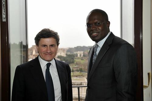 Incontro privato con il sindaco di Dakar e il direttore generale della Fao