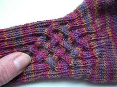 Knotty Gloves multico (helenepiano) Tags: tricot laine multicolore gants