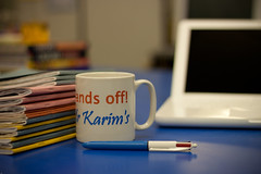 40/365 - Another day in the life of a teacher (.:shk:.) Tags: pink blue school coffee oneaday yellow pen canon table 50mm education tea desk bokeh laptop books teacher photoaday mug 18 marking ef chai karim pictureaday shk educator karims canonef50mm18 project365 365days macbook exercisebooks 365photos project36540 canoneos500d 090210 shkarim sogir 2010yip project36612010 sogskarim 09022010 project36509feb10 project365090210 02092010
