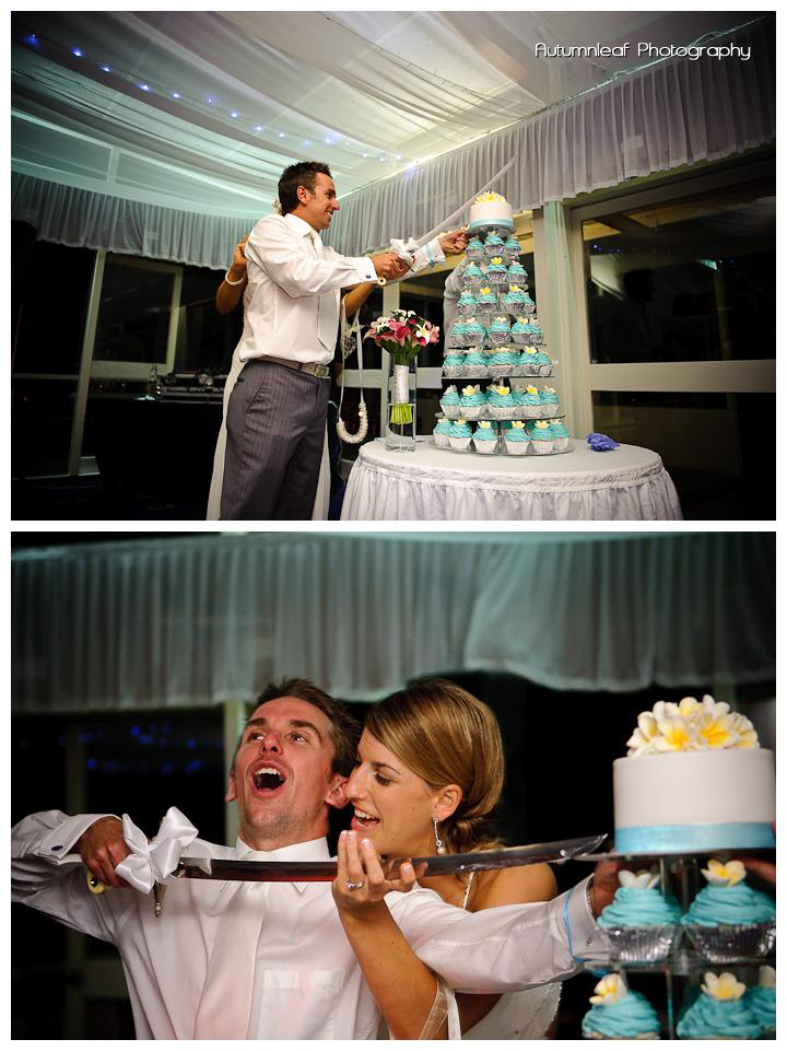 Lea and Todd's Wedding - Cake Cutting