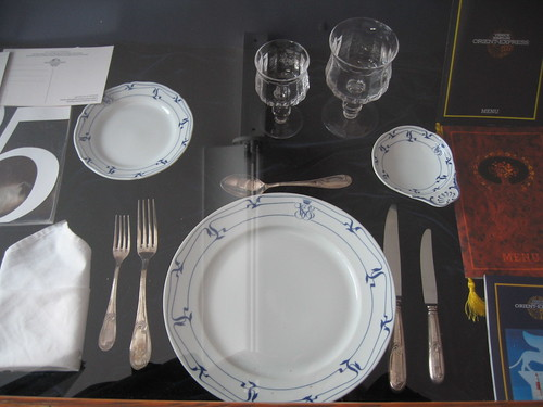Venice-Simplon Orient Express - Place setting