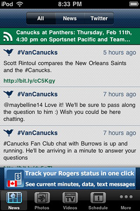 Official Vancouver Canucks iPhone App