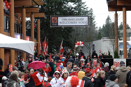 Olympic Torch in Lynn Valley, North Vancouver B.C. Feb 10 2010 -16
