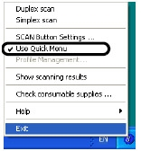 How to Turn Quick Menu On and Off