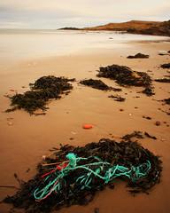 Seaweed & Rope (Pleasureprinciple2013) Tags: longexposure blue seaweed beach water canon geotagged scotland sand rocks pebbles rope pleasureprinciple sandend beachscenes 40d sandendbeach canon40d geo:lat=57681913 geo:lon=2739544