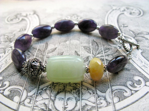 Bohemian Royalty in amethyst bracelet