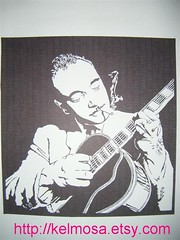 django 002 (Large) (Kelmosa) Tags: blackandwhite musician art silhouette guitar drawing cigarette jazz marker celebrities sharpie gypsy django guitarist reinhardt djangoreinhardt gypsyjazz