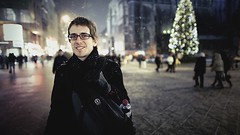 Stefan (Severin Sadjina) Tags: vienna wien lighting street light portrait people snow man night square austria evening video al lowlight cityscape cathedral streetlights availablelight stephansdom nightscene 24mm videoclip stephansplatz 24l canonef24mmf14lii 5dmarkii 5dmkii 24mmf14lii yetanothersuperlamevideotestshotwiththe5dmarkii