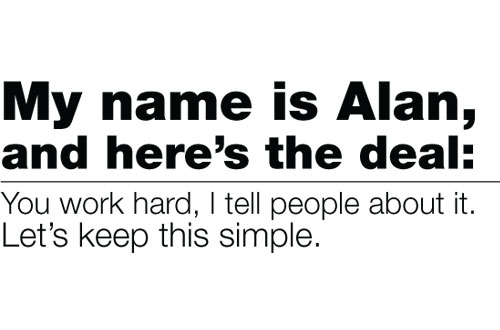 My name is Alan