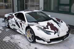 camouflage Ferrari 458 Italia