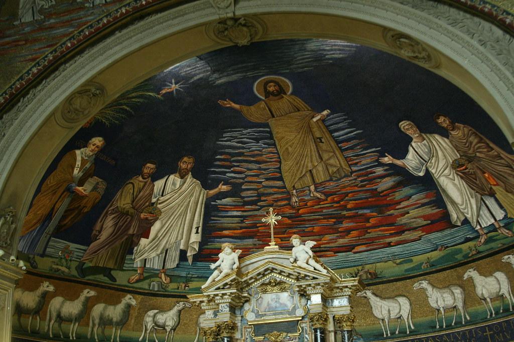 Mosaic Apse in SS Cosma e Damiano, Rome