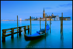 Venice - Lone Gondola and San Giorgio Maggiore (Yen Baet) Tags: venice italy church water twilight europe italia campanile motionblur gondola venetian bluehour piazza venezia grandcanal gondolier vaporetto piazzasanmarco stmarkssquare waterscape sangiorgiomaggiore veneto campanille cityofbridges romanticcity venicecarnival venetianlagoon cityofcanals