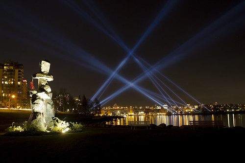 Inukshuk and Lights
