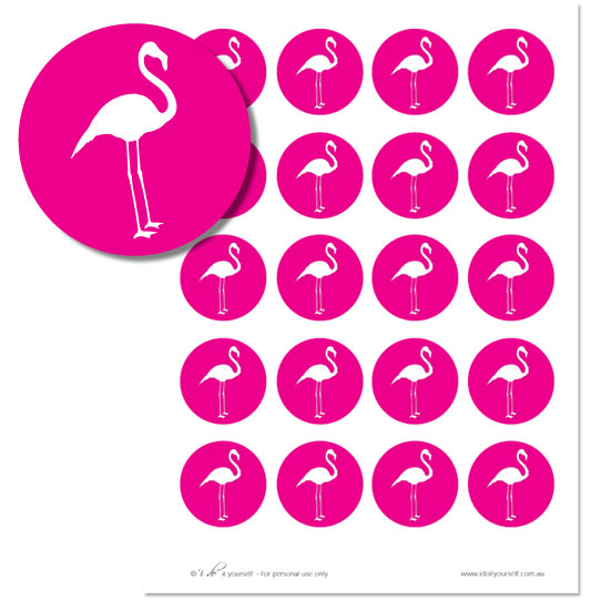 What Alice in Wonderland wedding would be complete without a flamingo or two