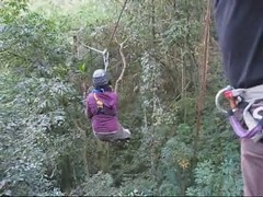I said make a Gibbon noise... (thirtyoneteeth) Tags: thailand beth chiangmai zipline flybutter sgoralnick