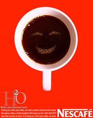 134/365 ,,, (H) Tags: morning red cup coffee smile face cafe ad bubbles h2o advertisement smiley enjoy mug nescafe coffe enjoying     mywinners           masha3el