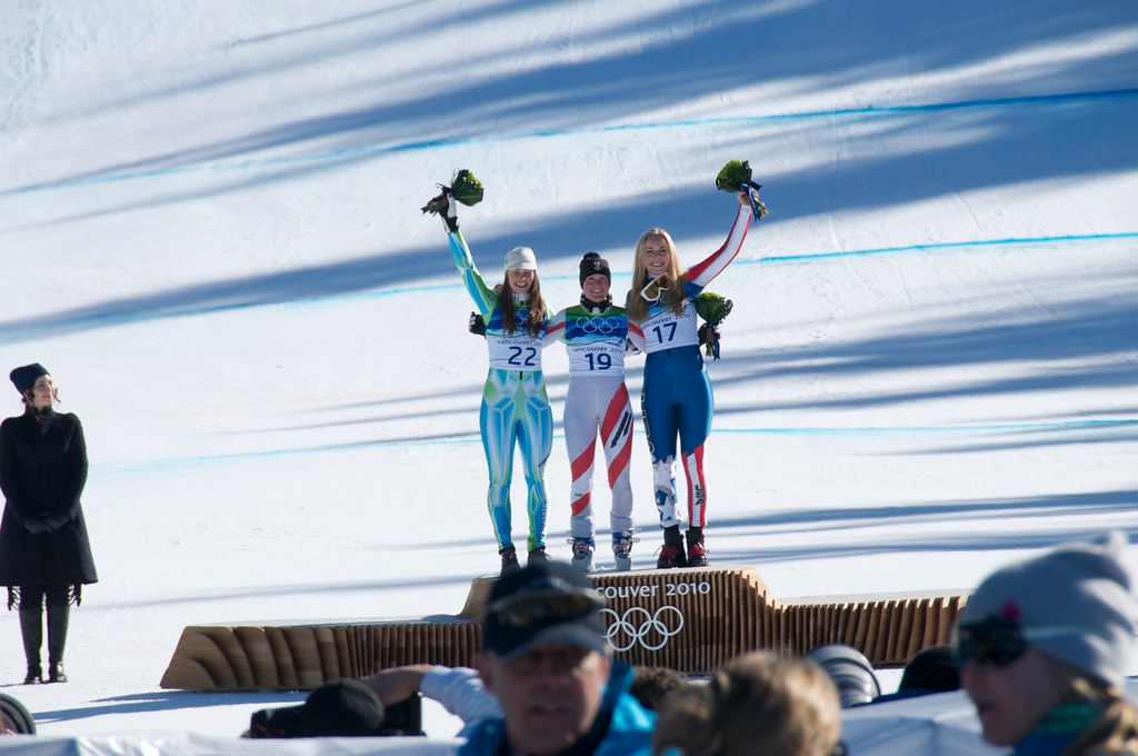 Women's Super G at Whistler Creekside Tina Maze Andrea Fischbacher Lindsey Vonn