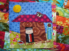 wonky improv house block (joontoons) Tags: sewing quilting patchwork quiltblock alexanderhenry wonkyhouse quiltingbee annamariahorner improvblock