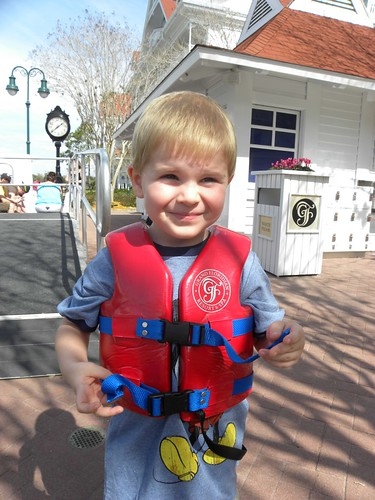 At the Grand Floridian, we wanted Austin to experience one of our favorite Disney moments - the speed boats.