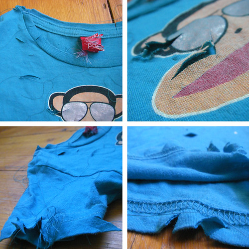 austin's shirt cut up