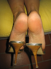 More than 100.000 views (al_garcia) Tags: feet high sandals heel mules smelly