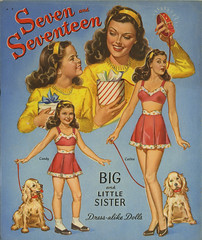 Seven and Seventeen paper doll_bk_tatteredandlost (T and L basement) Tags: toy ephemera collectible 1945 paperdoll pinup vintagepaperdoll sevenandseventeen merrillpublishingcompany bigandlittlesister mintpaperdolls
