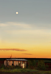 Full Moon Setting Over Abandoned Hut (AnnuskA  - AnnA Theodora) Tags: light brazil abandoned paran beautiful yellow golden earlymorning atmosphere fullmoon hut moonset spectacle dimlight platinumphoto fullmoonsetting