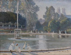 La Fontaine, Alice Maud Fanner, a1937_86 (Black Country Museums) Tags: french alicemaudfanner fountain fontaine water park people museum dudley france pond boating children painting oilpainting lake boat blackcountry art artcollection oilpaintings museums history museumobject