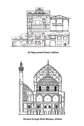 Ali Qapu and Mosque Sections-