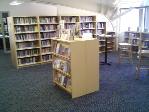 face-out shelving in the Teen Spot for new books and magazines