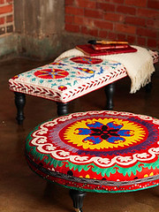 DIY Rolling Ottomans (It's Great To Be Home) Tags: diy ottoman rolling casters upholsteredottoman