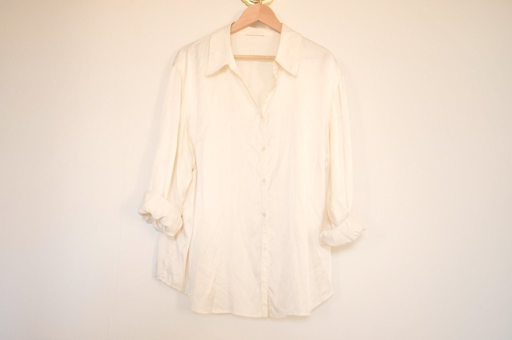 vintage oversized silk top 3