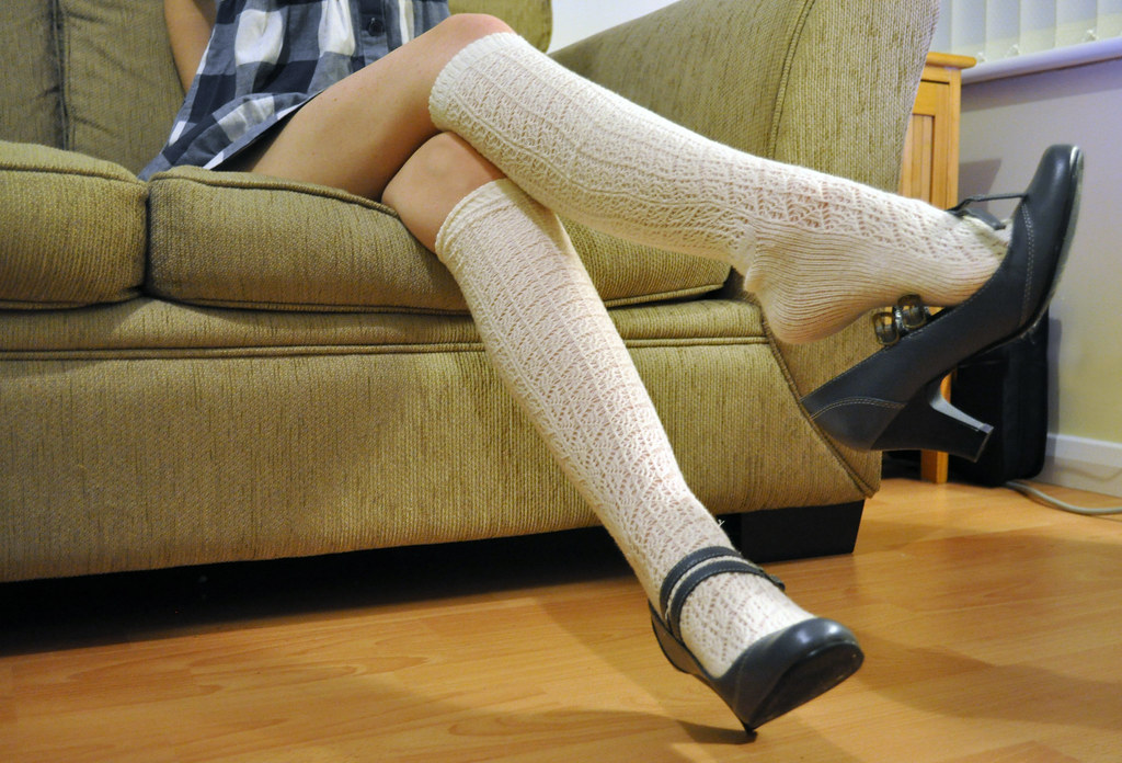 Fetish girl in sock can help