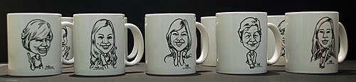 Caricatures for KC Dat on mugs - 5