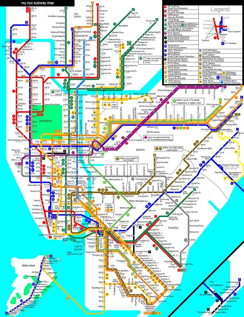 My Newly Made Map Page  New York City Subway NYC Transit - Nyc map laguardia