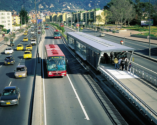 Bogota's TransMilenio BRT (via PoorButHappy in Colombia!)