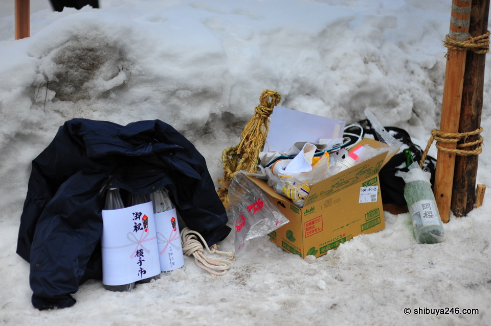 Memories of the Bonden Festival, Sake, snow shoes and some litter.