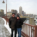 Frank & Erica on Stone Arch Bridge