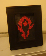 Horde Insignia Cross Stitch (Frankengeek) Tags: wow computer crossstitch pattern videogame etsy horde alliance