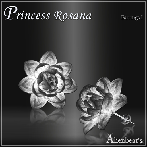 Dark Princess Rosana earrings I white