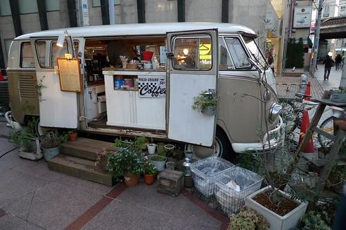 自由之丘路旁的特色咖啡店
