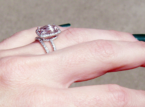 engagement ring with pink stone pave diamonds 8