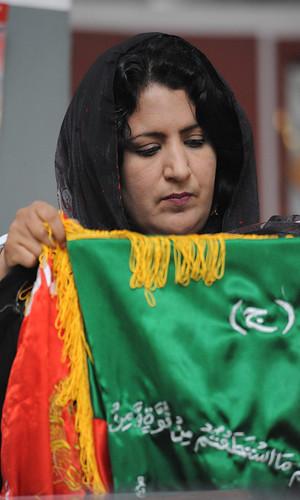 kabul afghanistan flag. Kabul, Afghanistan -- Habiba